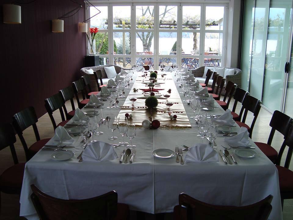Beispiel: Tischdekoration, Foto: Hôtel Jean-Jacques Rousseau.