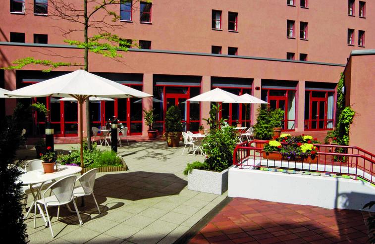 Beispiel: Terrasse, Foto: Grand City Hotel Halle.