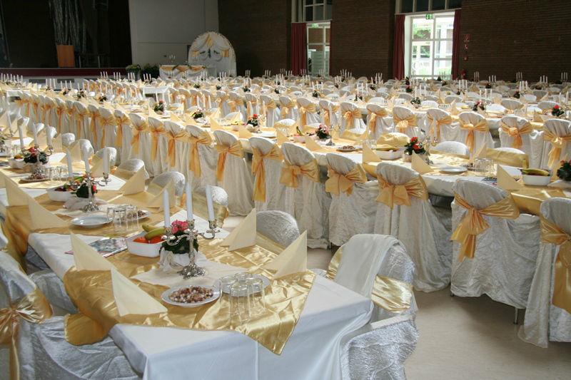Beispiel: Hochzeitsbankett, Foto: Rheingoldhalle Mannheim.