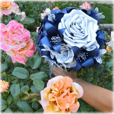 Detalle del Ramo de Novia Blue Glam