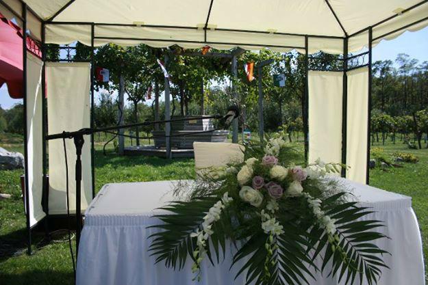 Beispiel: Hochzeitsdekoration, Foto: Hotel Vila Vita Pannonia.
