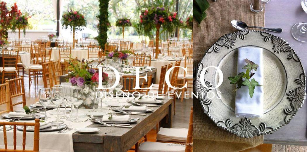 Montaje final y ambientación total del evento en Jardin Huayacan, por DECO diseño de eventos.