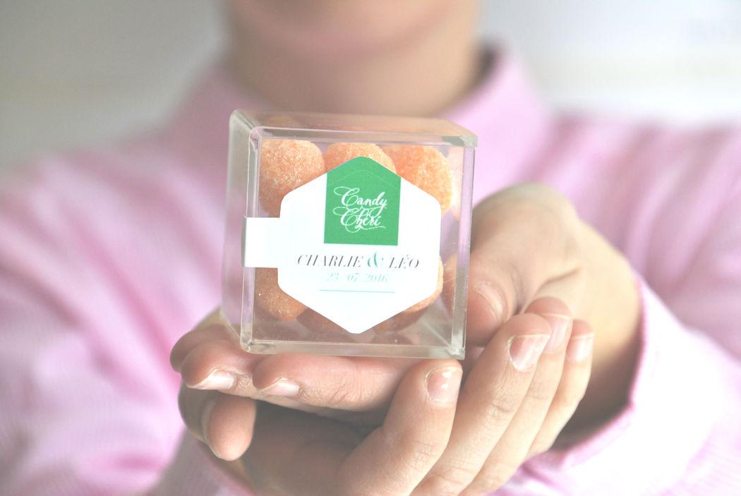 Candy Chéri, cube personnalisé mariage