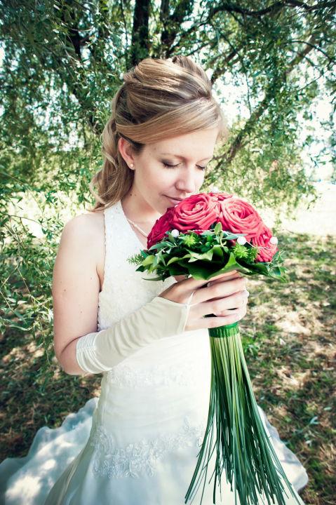 Beispiel: Portrait der Braut, Foto: Carole Fleischmann Fotografie.