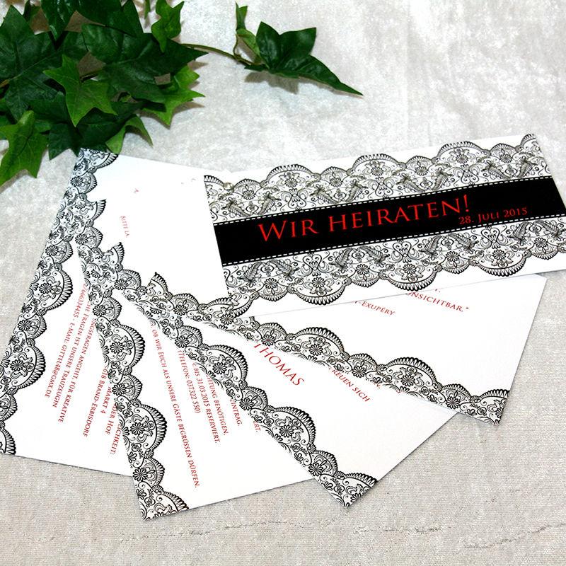 Cela-Design Hochzeitseinladung Fächerkarte