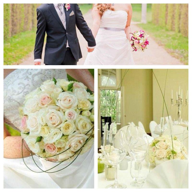 Beispiel: Hochzeitsfloristik, Foto: Nadja Meyer Floristik.