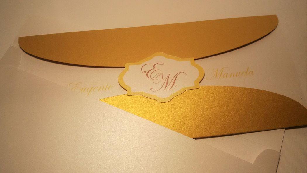 Invito di nozze Gold