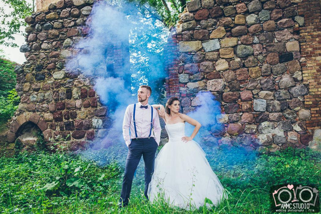 Kolorowa sesja ślubna
