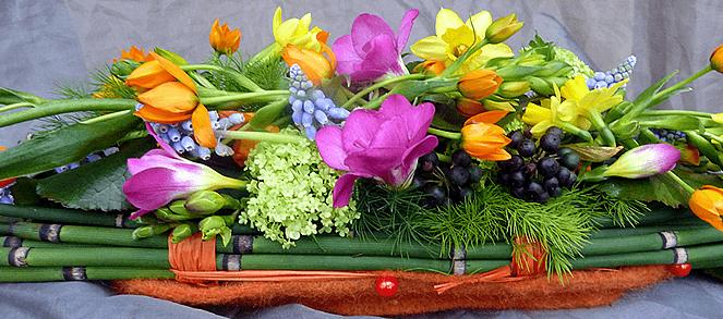 Beispiel: Tischdekoration, Foto: Gärtnerei und Floristik Stephan.