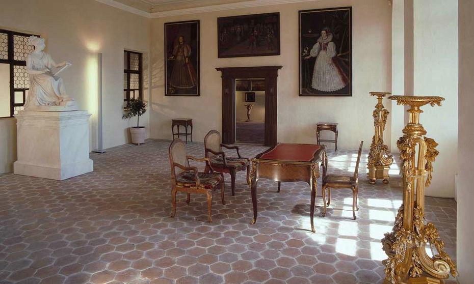 Beispiel: Leopoldinenzimmer, Foto: Burg Forchtenstein.
