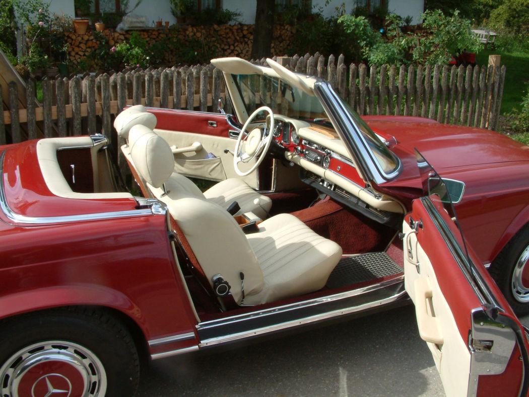 Ihr Hochzeitsauto zum Selberfahren: Mercedes Benz 280 SL Pagode (W113) Foto: Classic Roadster München