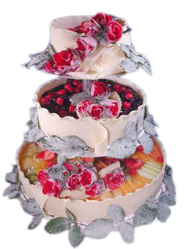 Beispiel: Hochzeitstorte, Foto: Bellas Hochzeitsservice.