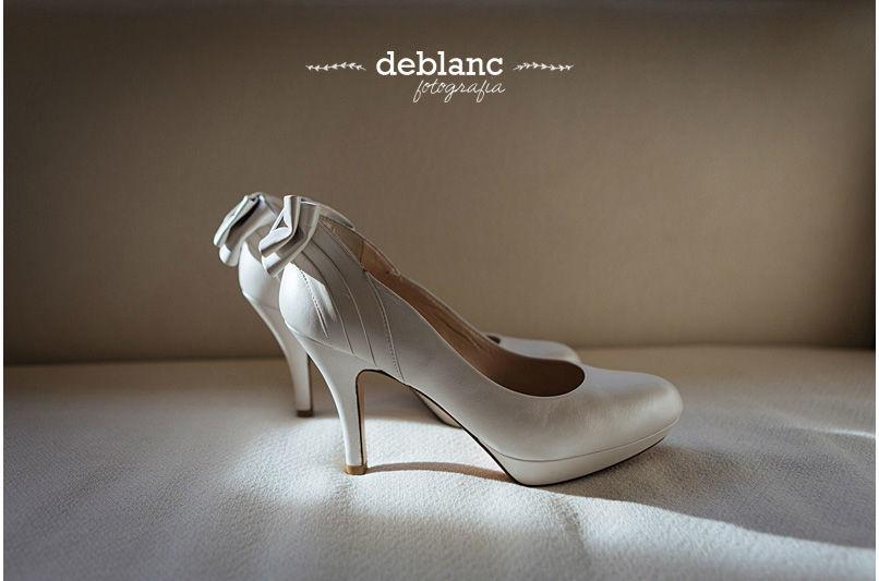 Detalle zapatos Novia - Deblanc Fotografia