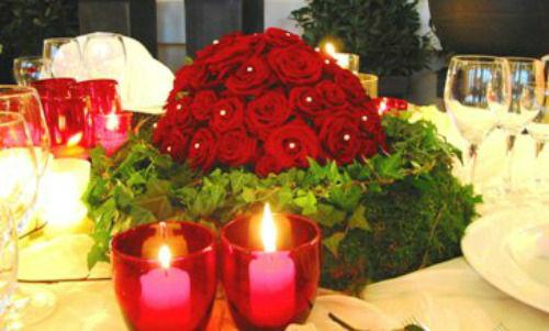 Beispiel: Tischdekoration, Foto: Blumen-Boutique Schmitz.