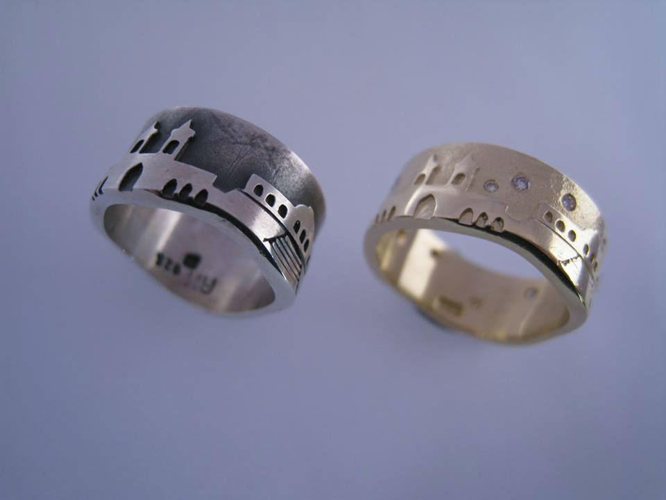 Beispiel: Trauringe - Palladium/Carbon, Foto: Juwelier Neumann.