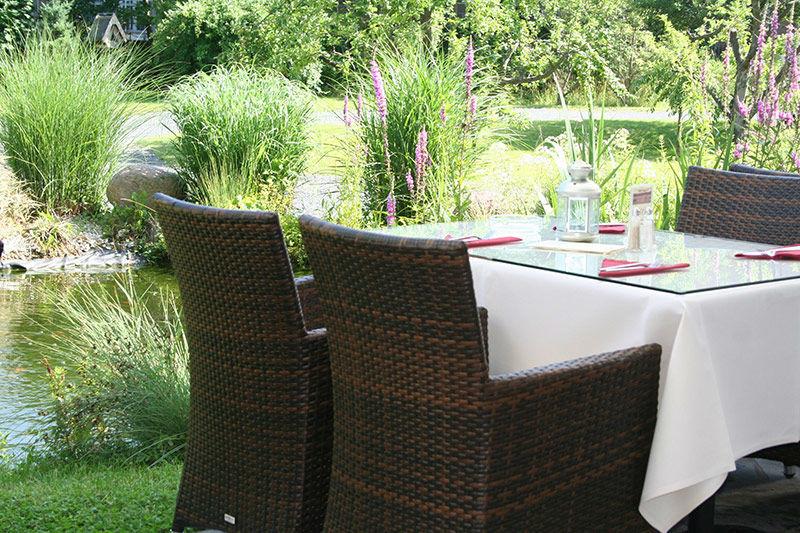 Beispiel: Terrasse, Foto: Seehotel Zeuthen.