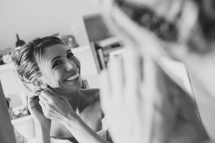 Foto sposa allo specchio