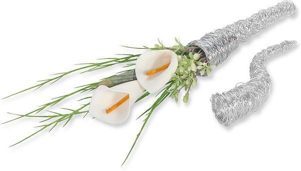 Beispiel: Draht-Tüte, Foto: Baumann Floristik und Dekoration.