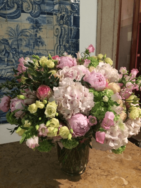 Isabelle Mantelet:  bouquet aux fleurs de saison
