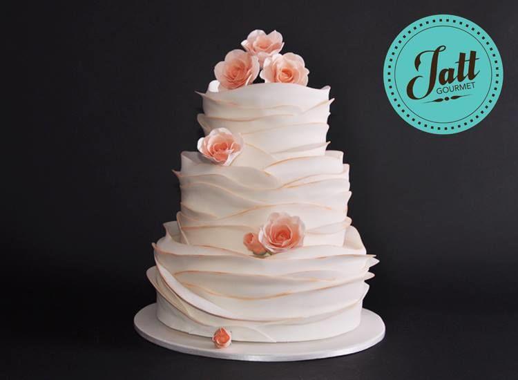 Pastel de bodas para 75 personas