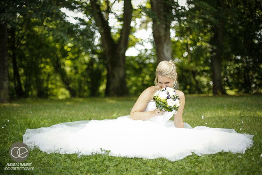 Beispiel: Portrait der Braut, Foto: Hochzeitsfotografie Andreas Emmert.