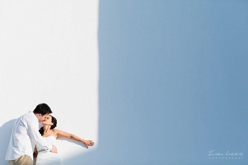 Boda en Playa del Carmen retrato de boda de los novios minimalista