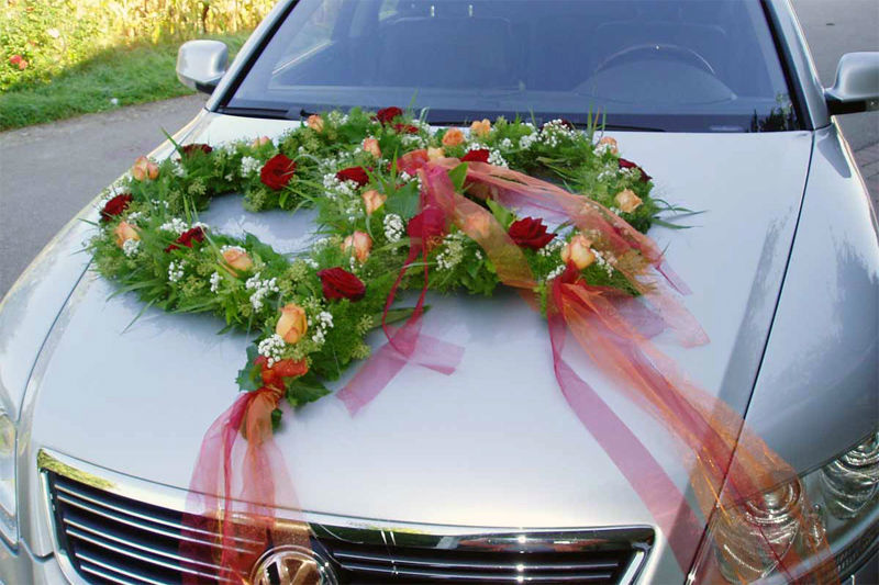 Beispiel: Blumendekoration, Foto: Blumenhaus Dick.