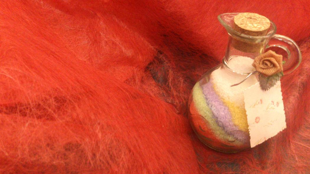 Sales de baño aromaticas en aceitera. Se puede eleir el aroma.