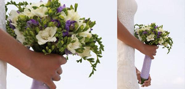Ramo de novia de fresias.  http://lafloreria.net