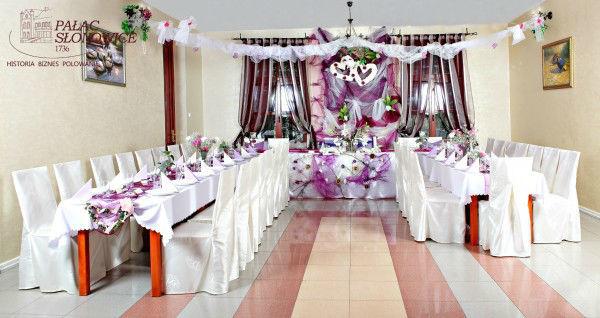 Dekoracja ssali weselnej