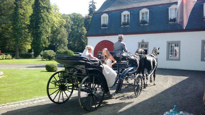 Beispiel: Ankunft in der Hochzeitskutsche, Foto: Schloss Auel.