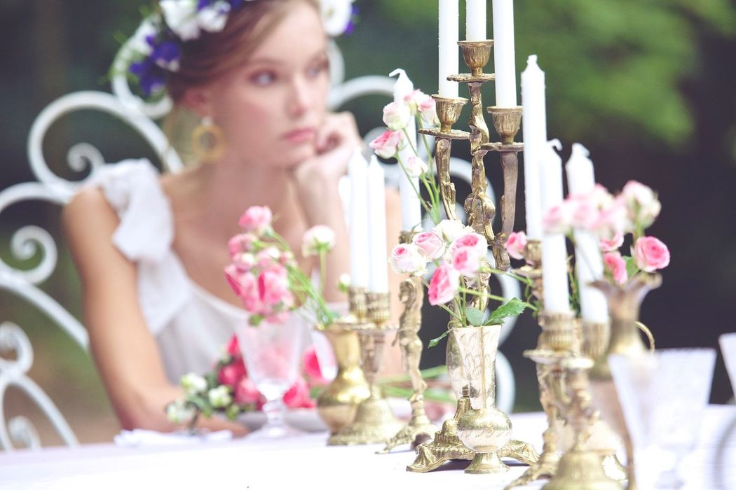 French Antique Wedding - Chandeliers