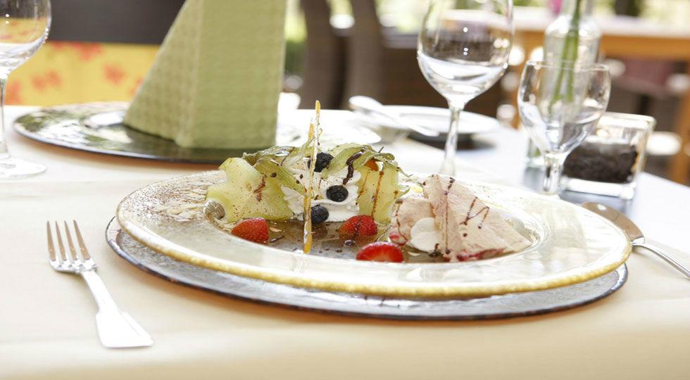 Beispiel: Dessert, Foto: Hotel Robben.