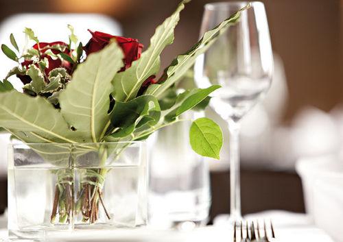 Beispiel: Tischdekoration, Foto: Maiensässhotel Guarda Val.