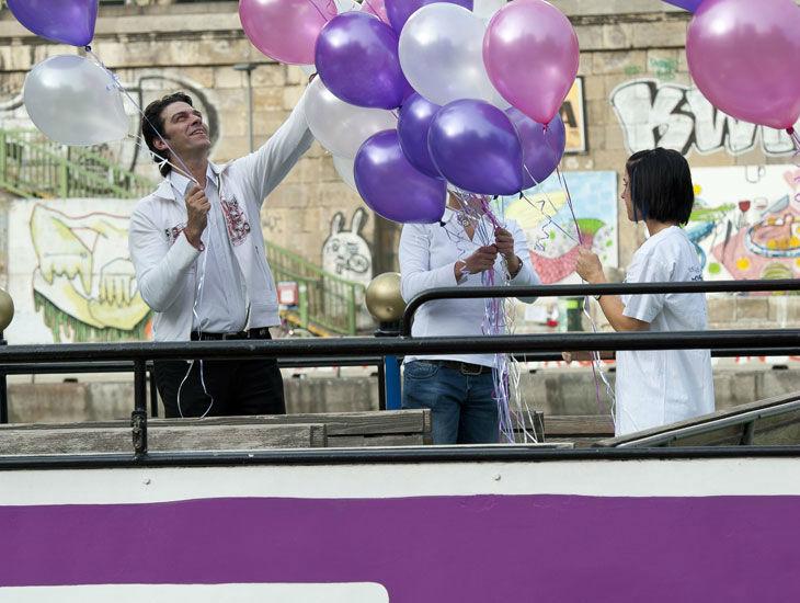 Beispiel: Hochzeitsballons an Deck, Foto: DDSG Blue Danube.