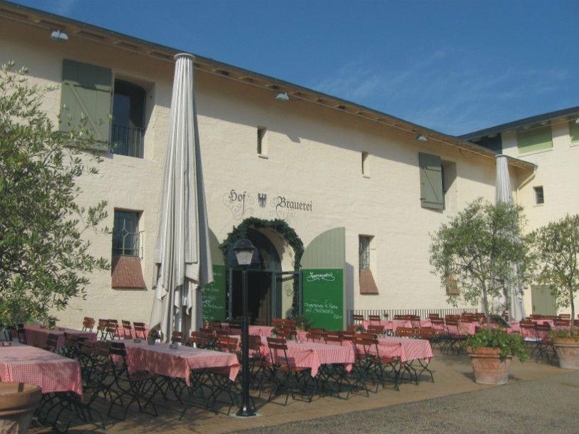 Beispiel: Brauhaus Terrasse, Foto: Krongut Bornstedt.