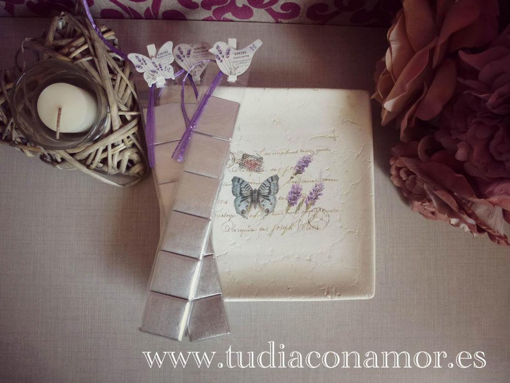 Detalles de boda chocolate decorado vintage rústico