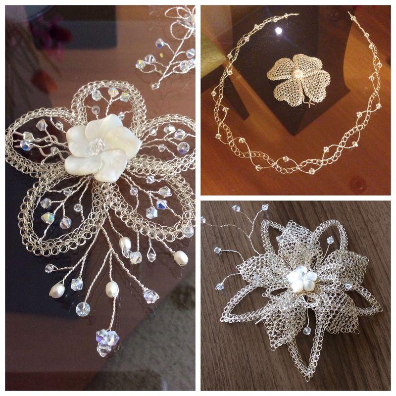 Flor y más flores de plata y sus distintas combinaciones de materiales.