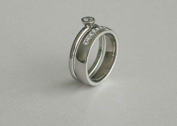 Beispiel: Trauring/Beisteckring - Silber, Foto: Juwelier Jaufman.