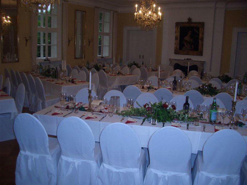 Beispiel: Hochzeitstafel, Foto: Gut Sennickerode.