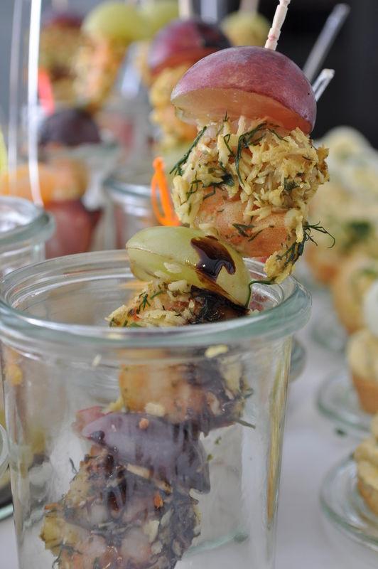 Beispiel: Canapés, Foto: Das Häppchen schmeckt...