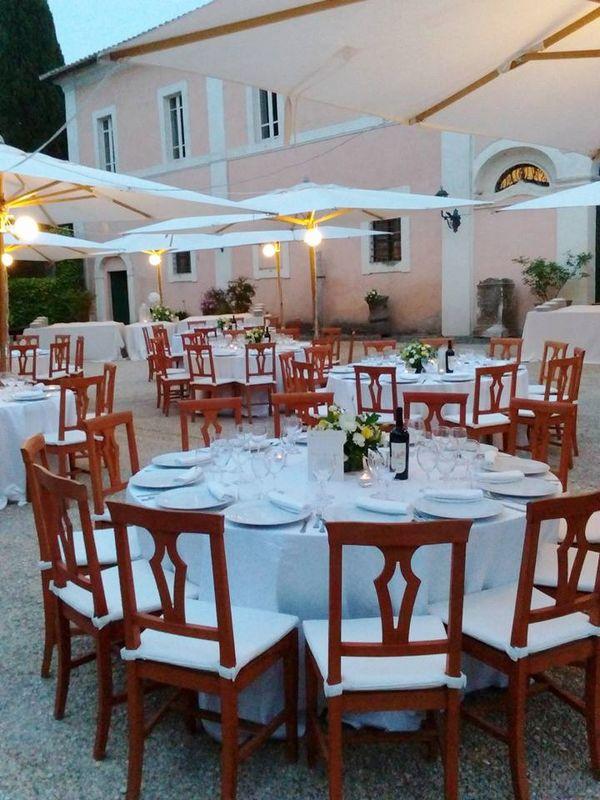 allestimento wedding dinner