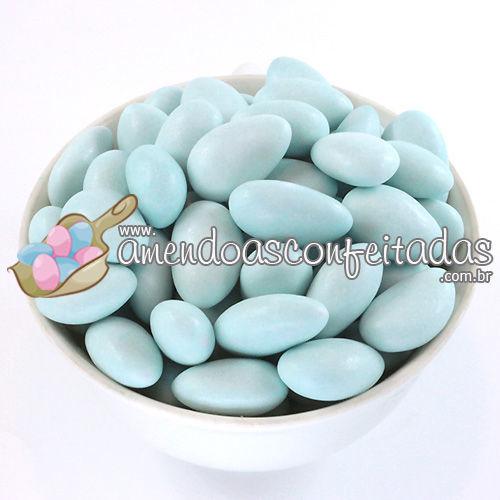 Amêndoas Confeitadas Azul Bebê Premium - Recomendadas para Maternidade (menino).