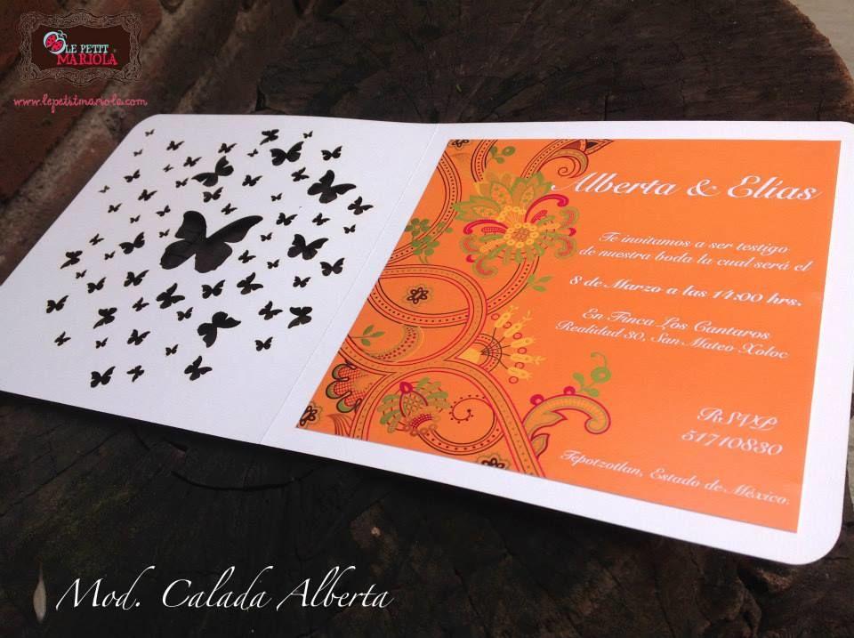 Invitación corte laser Mod. Alberta