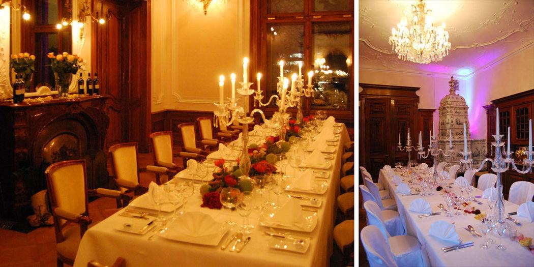 Beispiel: Tischdekoration, Foto: Schloss Sihlberg.