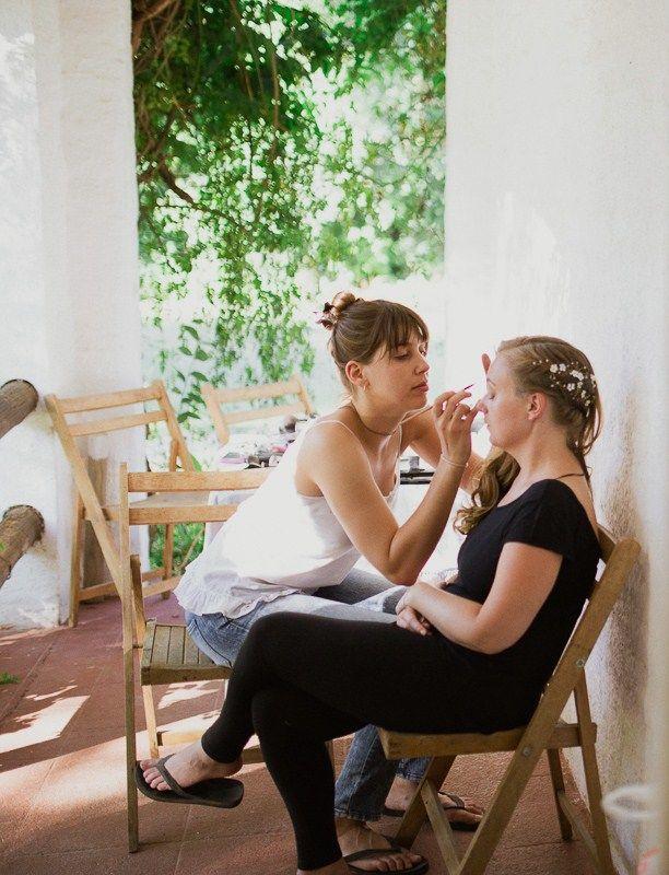 Espacios para la preparación de la novia y la familia