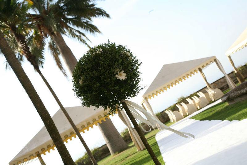 Park Hotel Villa Grazioli: Giardino pensile allestito per la cerimonia simbolica