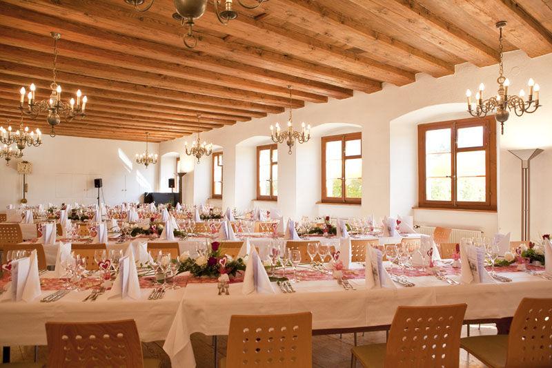 Beispiel: Refektorium, Foto: Hotel Kloster Dornach.