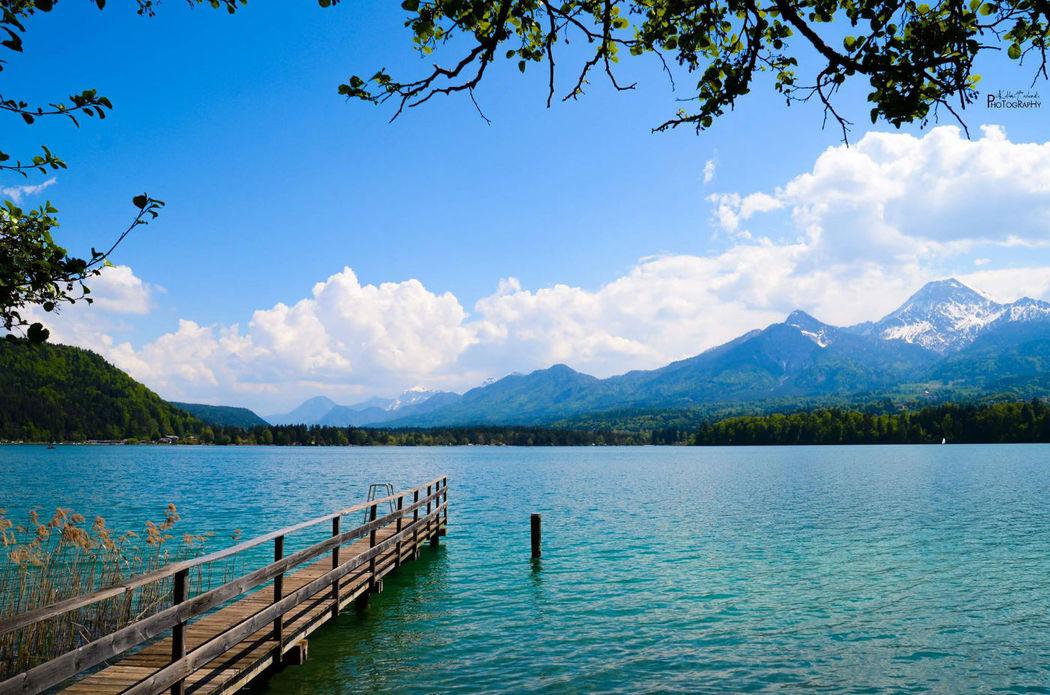 Beispiel: Landschaftsblick auf den See und die Berge, Foto: Warmbaderhof.