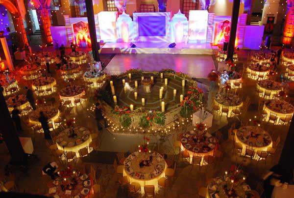 Acomodo de mesas Foto: Ex Convento de San Hipólito
